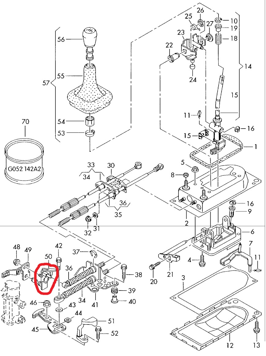 won t shift into reverse or 5th no power in 1st broken plastic 2000 VW Beetle Transmission Diagram thumb