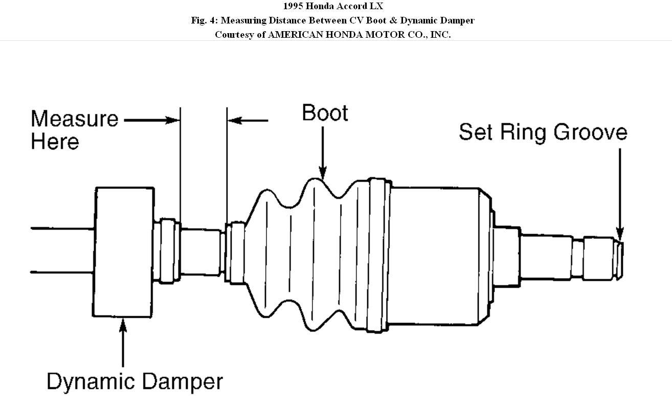 replacing a 1995 honda accord lx cv boot
