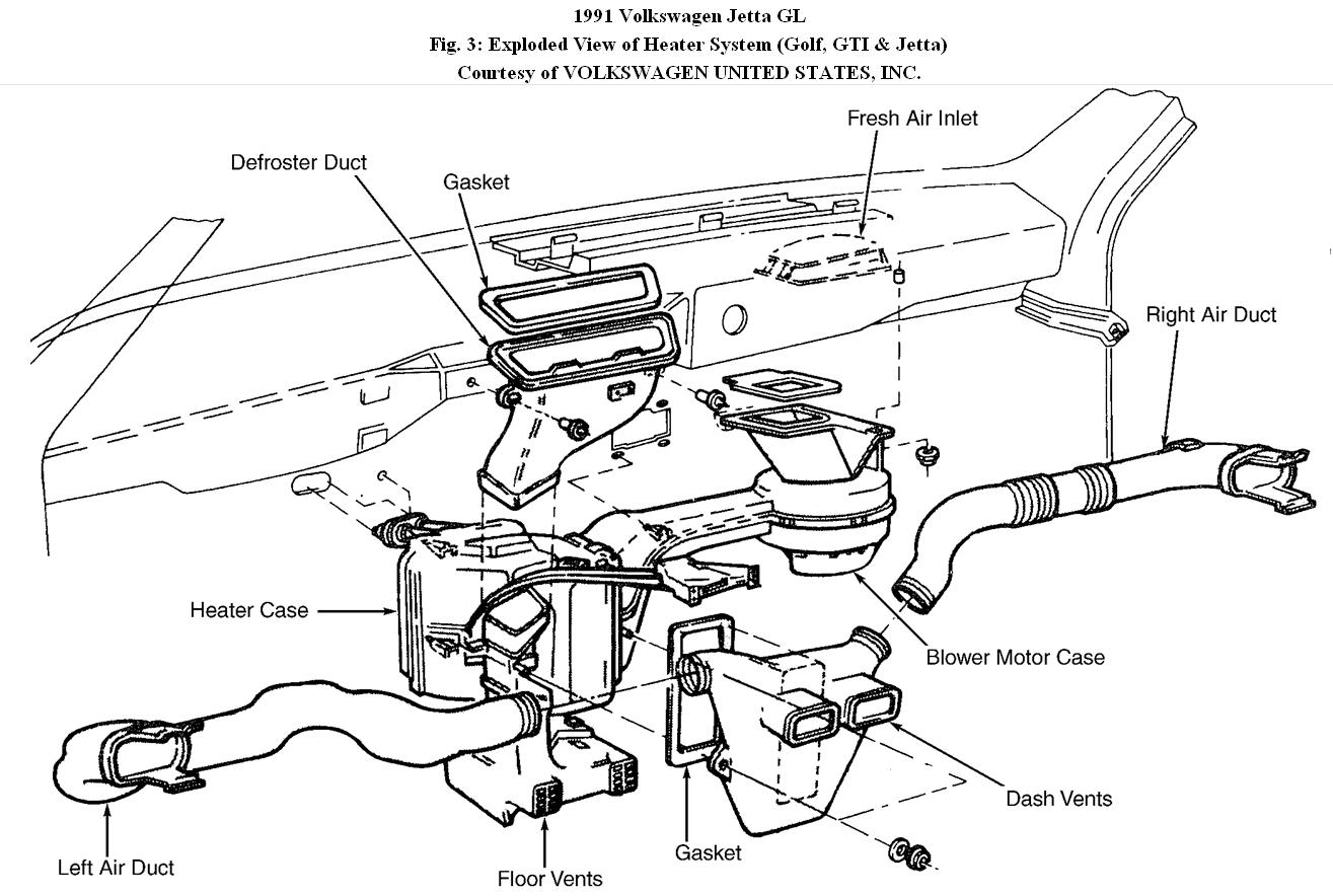 service manual  1994 volkswagen jetta iii removal diagram