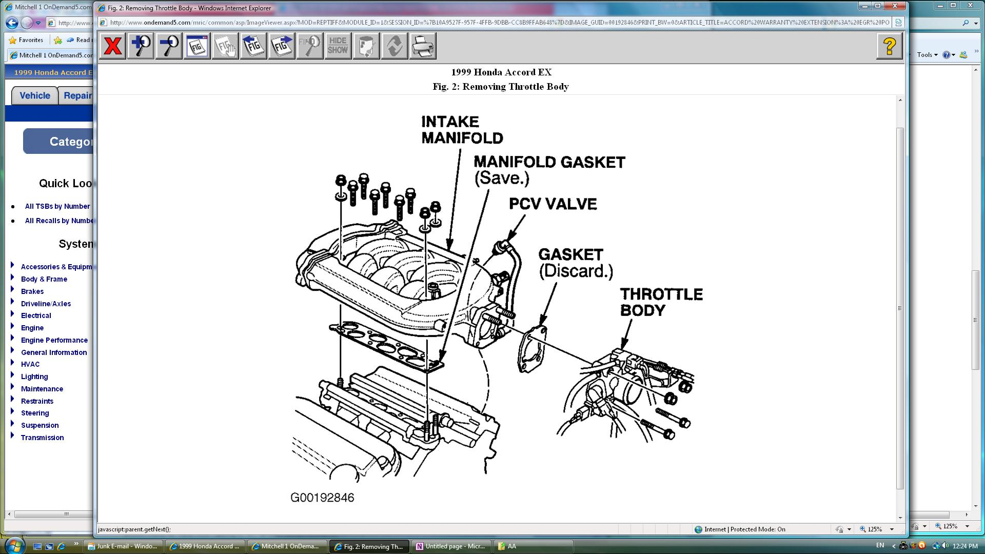 1999 Honda Accord Upper Intake Manifold Diagram Engine