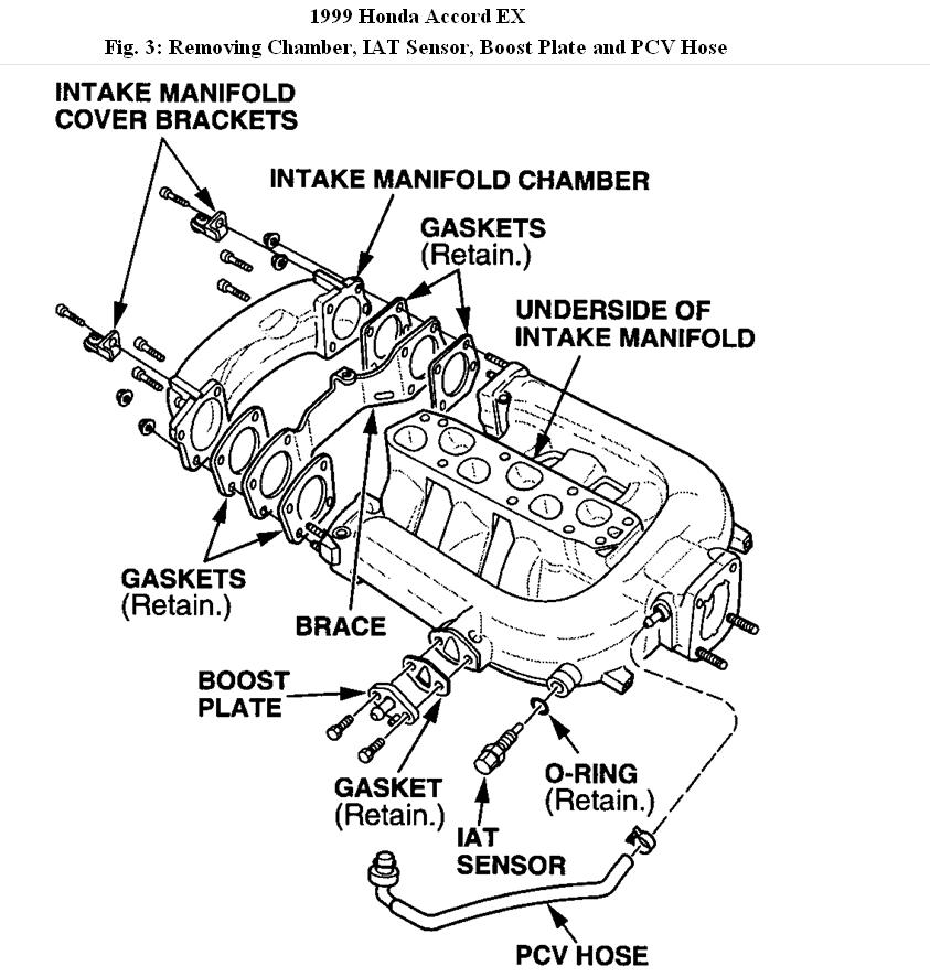 1999 honda accord upper intake manifold diagram engine rh 2carpros com honda accord intake manifold diagram honda accord intake manifold diagram