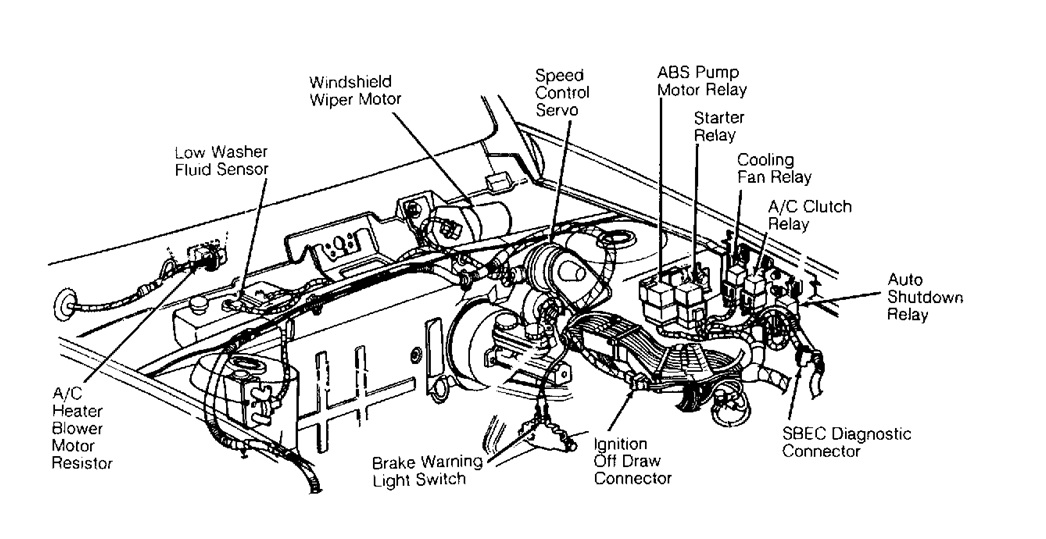 1995 plymouth acclaim engine diagram