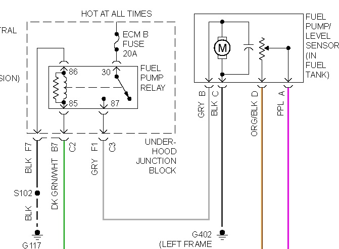 33 Fuel Pump Wiring Diagram 2000 Chevy Silverado