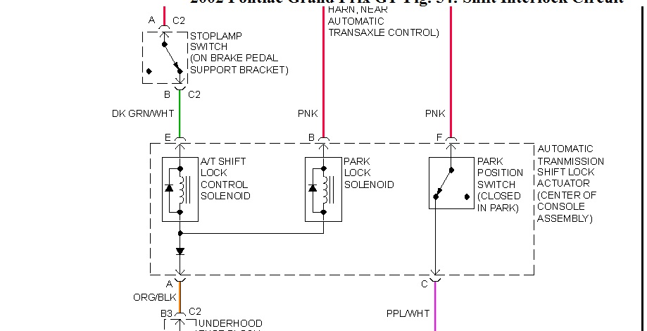 Wire Diagram For Shift Lock Solenoid  Hello How Are You