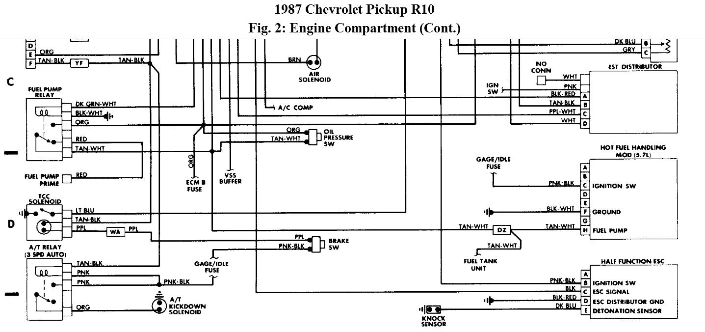 original 1987 chevy truck fuel pump wiring diagram wiring diagram