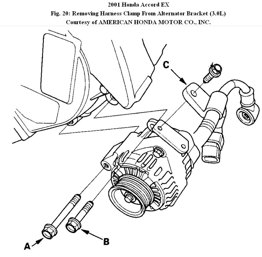 Car Repair Need Instructions To Replace An Alternator On A 2001