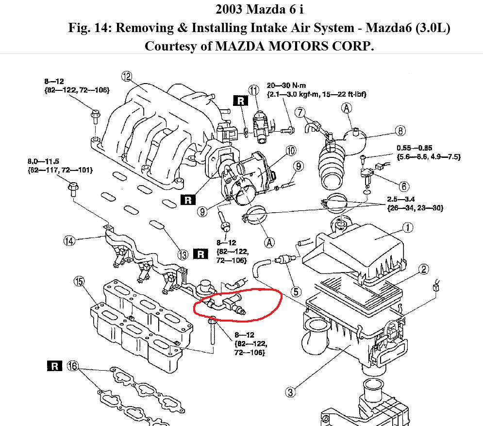 2004 mazda engine diagram