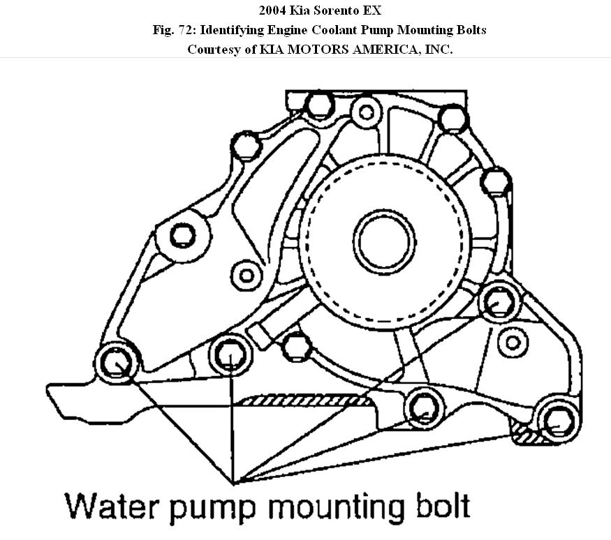 water pump  how do you replace a water pump on a 2004 kia