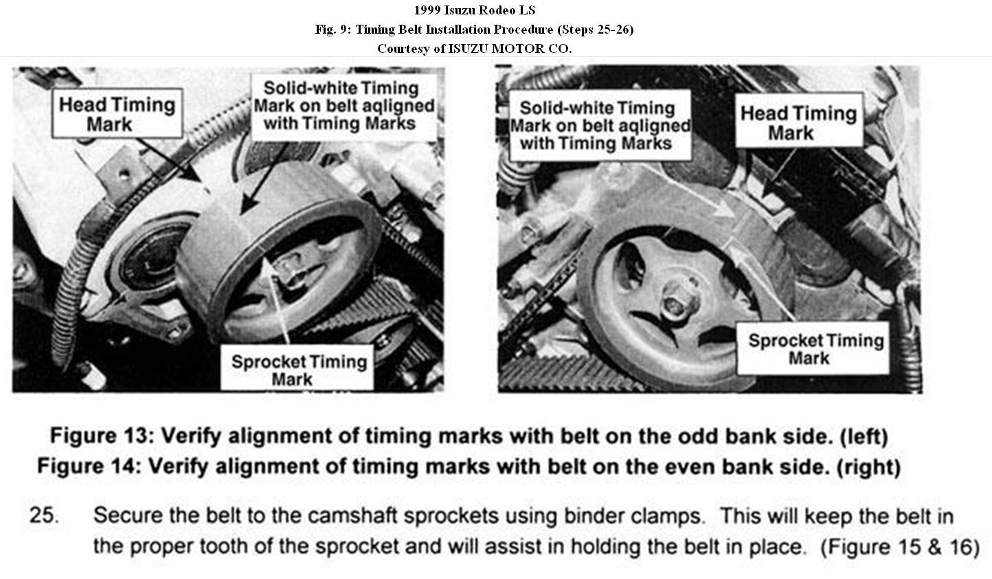 Original on Isuzu Rodeo Serpentine Belt Diagram