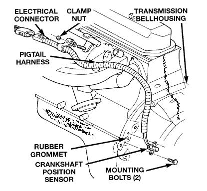 Jeep Wire Harness Crankshaft Position Sensor