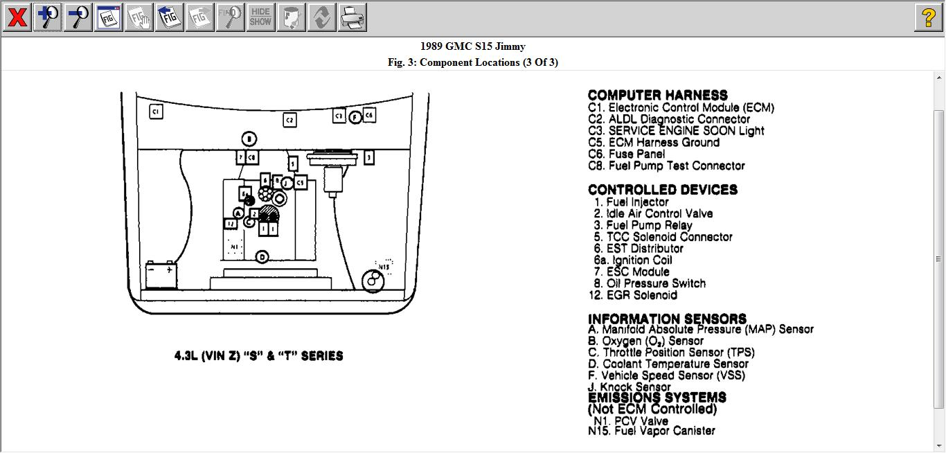 Wont Accelerate 1989 Gmc S 15 Jimmy 43 Car Was Given To Me 5 7 Engine Diagram Thumb