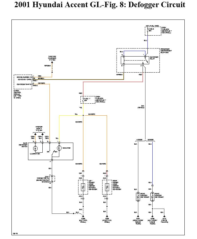 1997 Hyundai Accent Wiring Diagram Not Lossing \u2022rhthatspaco: 2001 Hyundai Accent Defogger Wiring Diagram At Gmaili.net