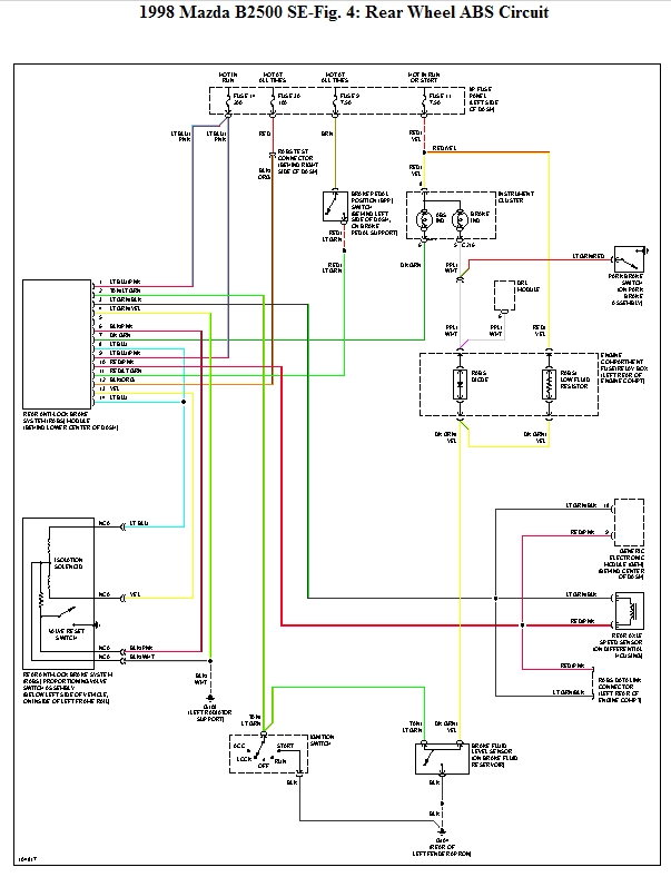 98 Mazda B2500 Wiring Diagram