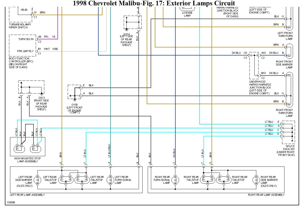 2004 Malibu Fuse Box Another Blog About Wiring Diagram Chevy Hhr Tail Light The Rear Brake Lights Do Not Come On When Pedal