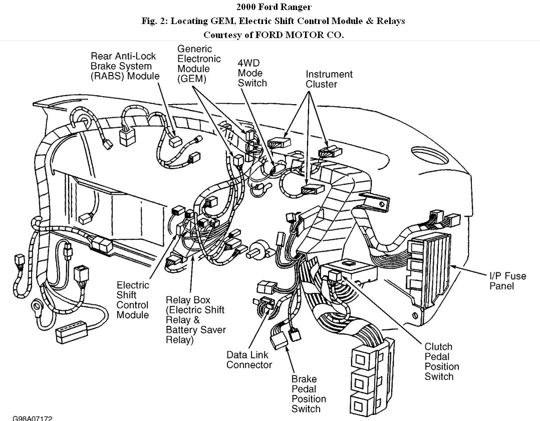 2000 Ford Ranger 4x4 on engine diagram for 1993 ford f150