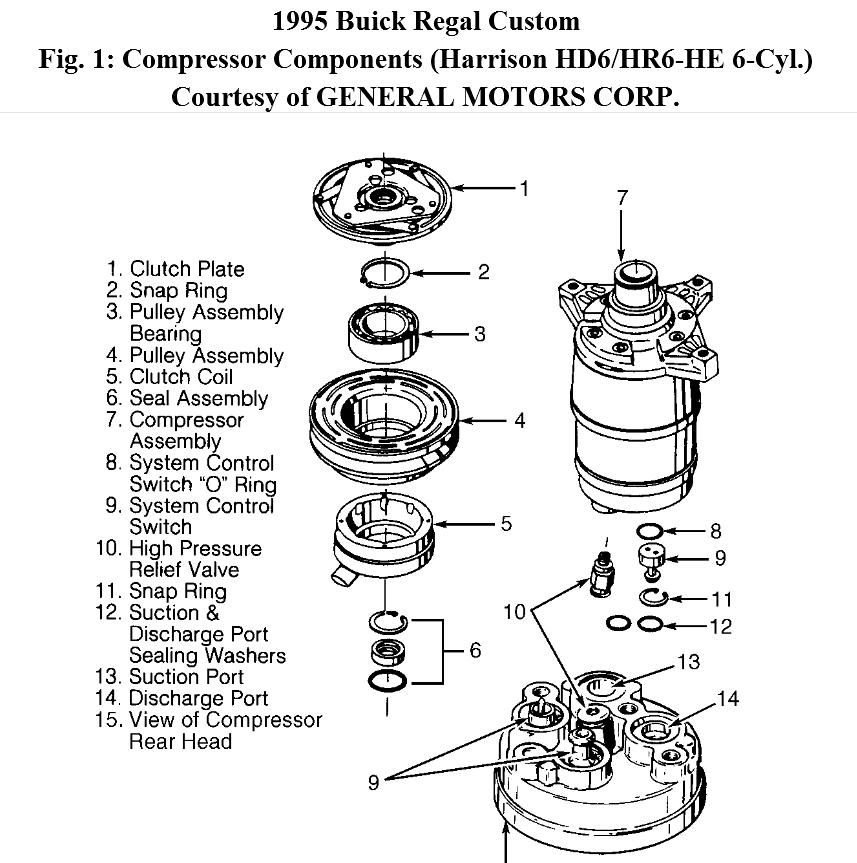 3 8l Engine How To R U0026r A  C Compressor Clutch Bearing