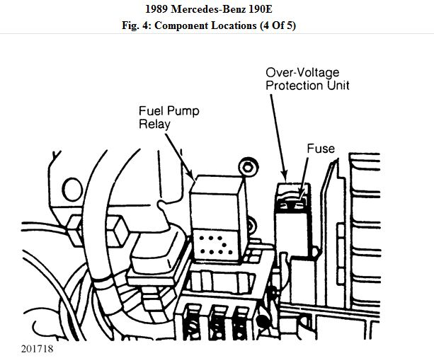Mercedes Fuel Pump Relay Diagram