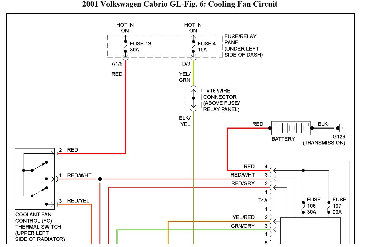 Diagram Of Vw Fan Wiring Schematics Mercedes Cooling 2001 Cabrio Well Not Turn On Alternator