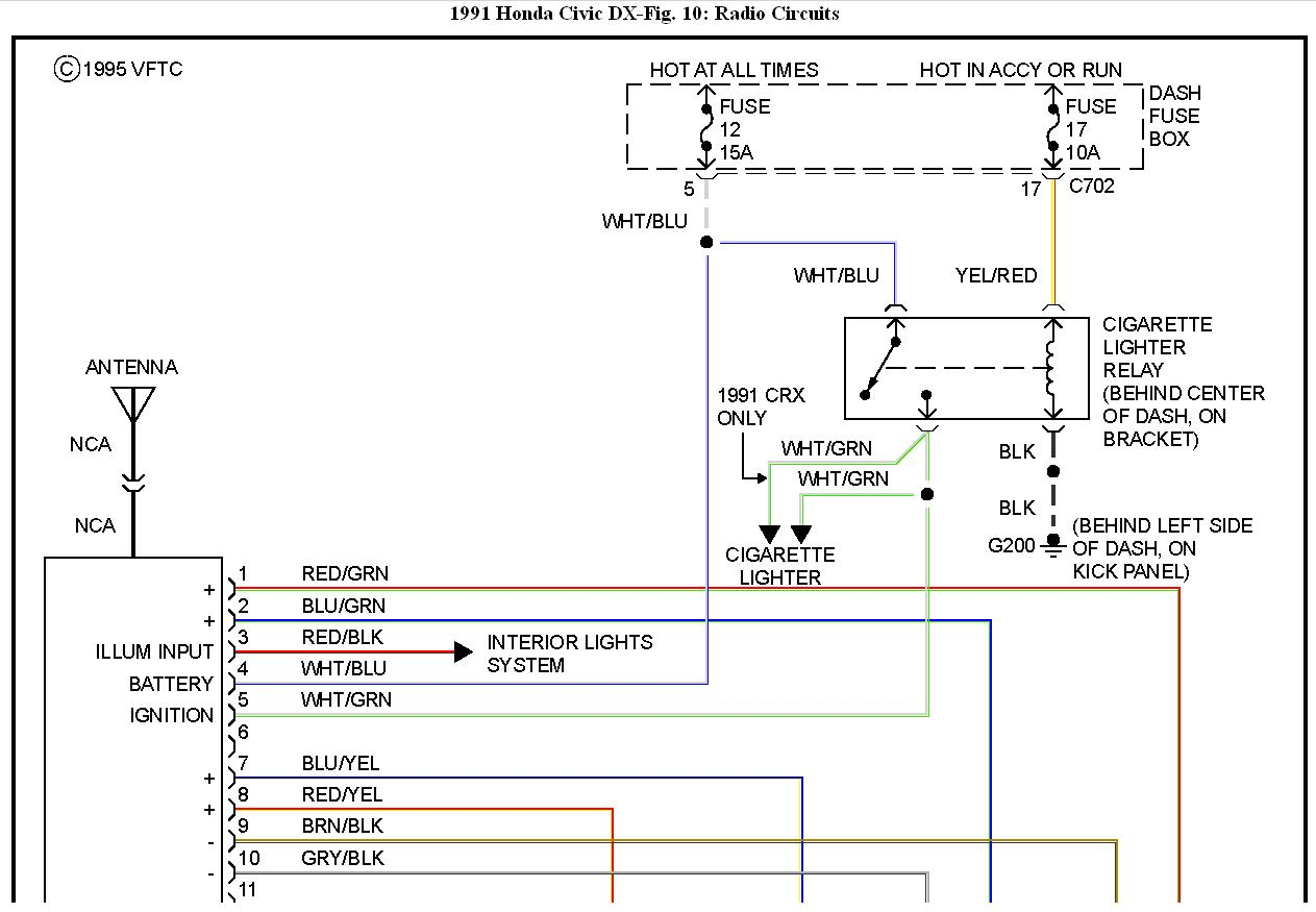 1991 honda civic radio wiring diagram  ok i have a radio i