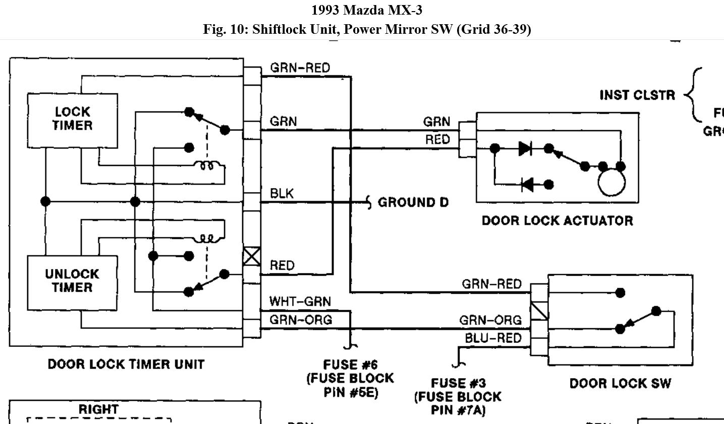 Car Door Lock Diagram Data Schematics Wiring 2000 Deville Shift Problem Opening Power Locks When I Click My Remote To Rh 2carpros Com Circuit