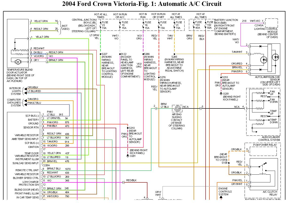 original ford crown victoria 2004 a c blows hot air wiring diagram for 2004 crown victoria at edmiracle.co