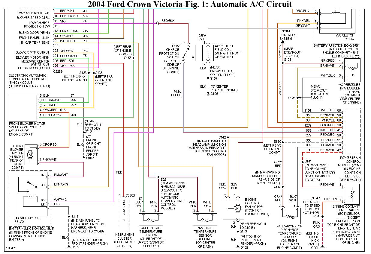 2004 ford crown victoria radio wiring diagram ford crown victoria 2004.a/c blows hot air. #3