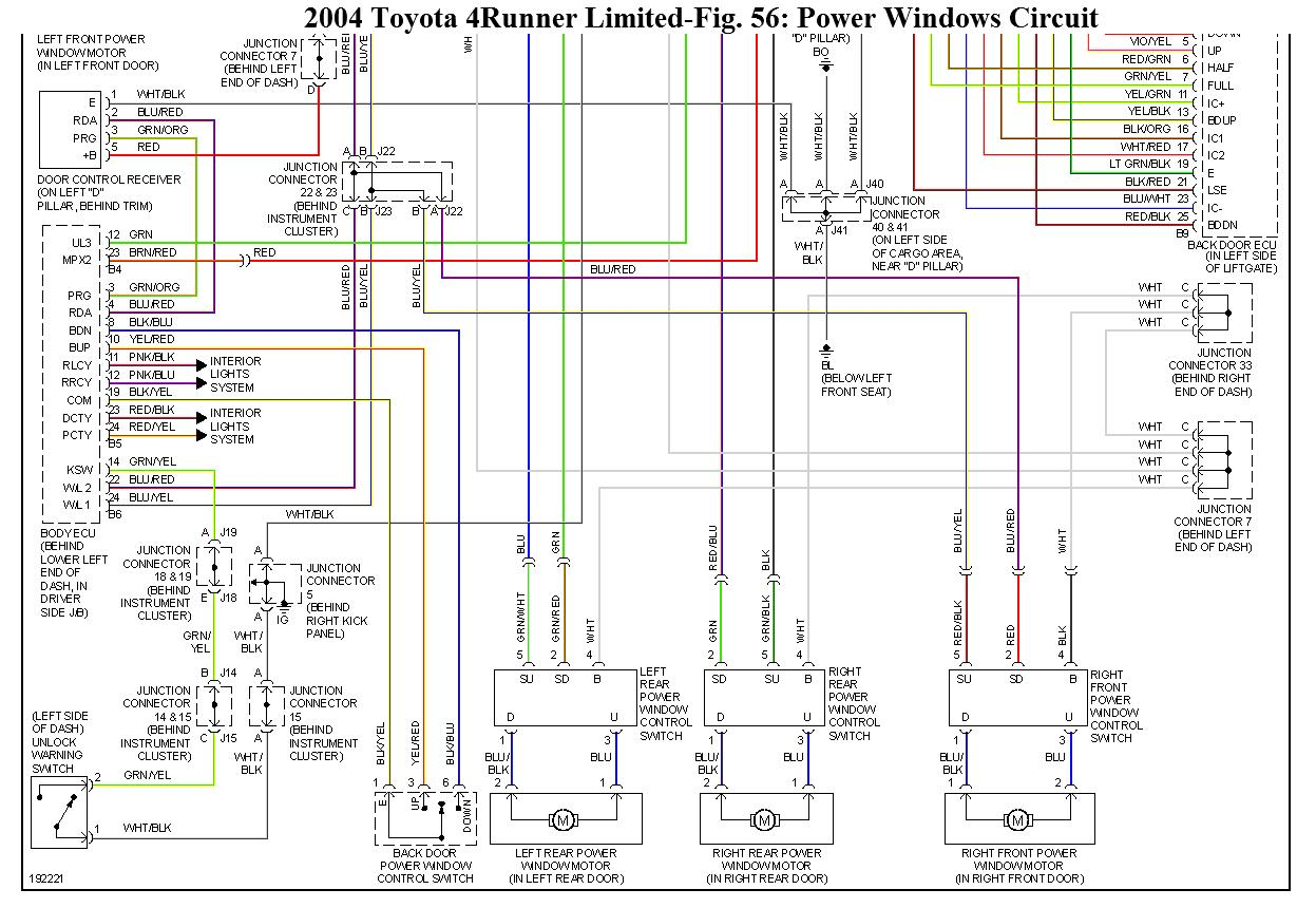 Toyota 4runner Power Window Wiring Diagram Circuit And Schematics 1986 Rear Snap Switch Forum Largest Photos On