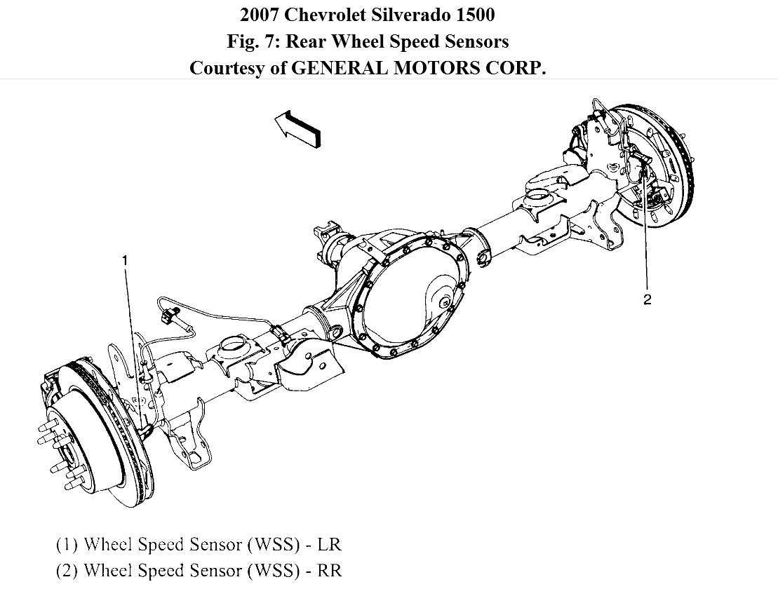 rear wheel speed sensor circuit erratic signal