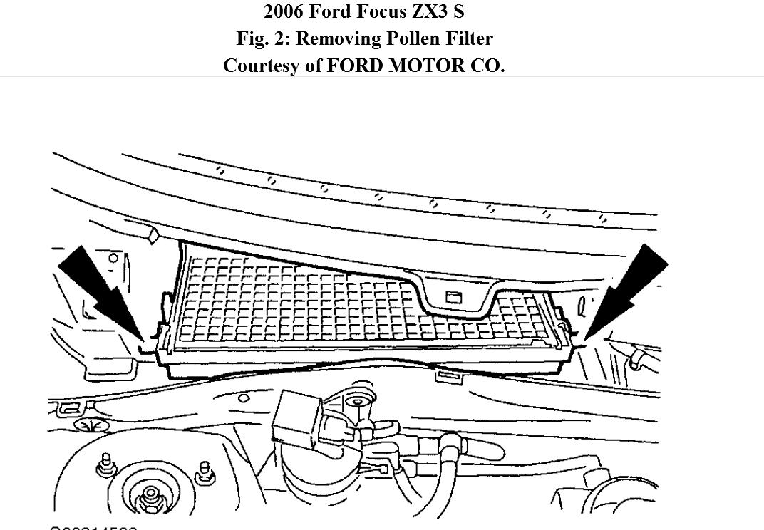 cabin air filter location 2013 ford escape