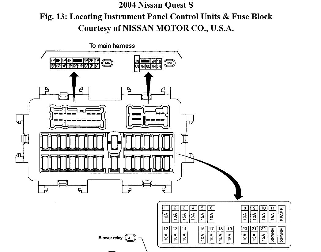 07 Nissan Quest Fuse Diagram Great Design Of Wiring 98 Sentra Box 2007 2001