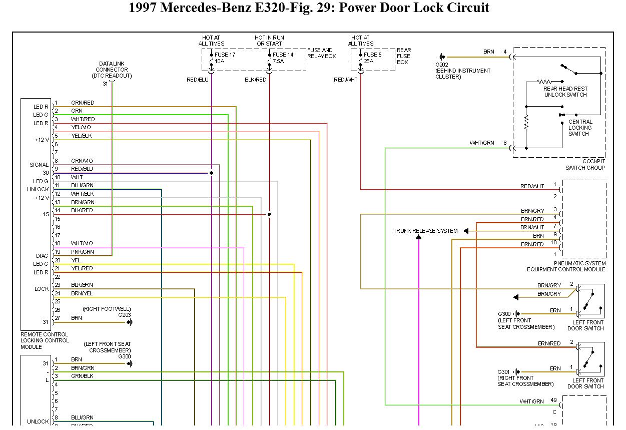 1997 Mercedes E320 Center Lock Wiring Diagram