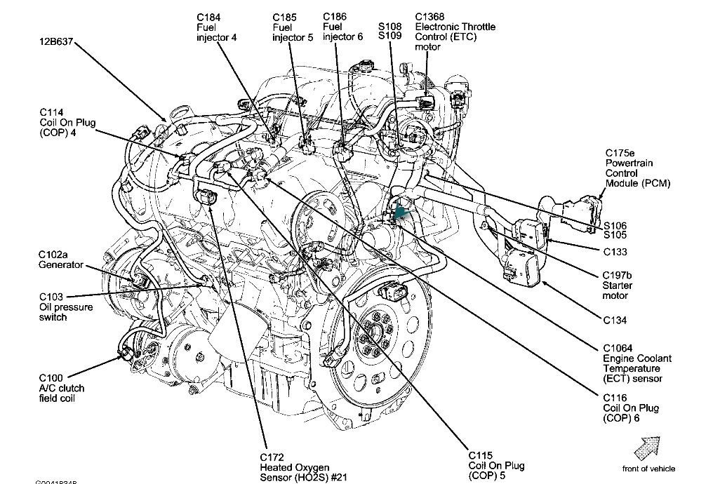 V6 V8 Tach Ground Wire 107127 in addition 2000 Ford Expedition Fuse Box Diagram likewise 960707 Pcm Wiring Harness Diagram additionally 98 Chevy Blazer Fuel Pump Location also Lincoln Ls 2000 2006 Fuse Box Diagram. on pcm 2000 f150 5 4