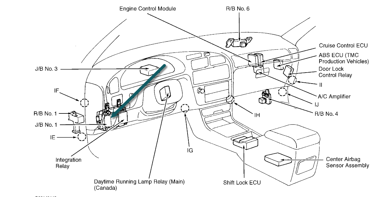Fuse Box 95 Toyota Camry Wiring Library Location In 99 Please Someone Tell Where The 34 One That Controls