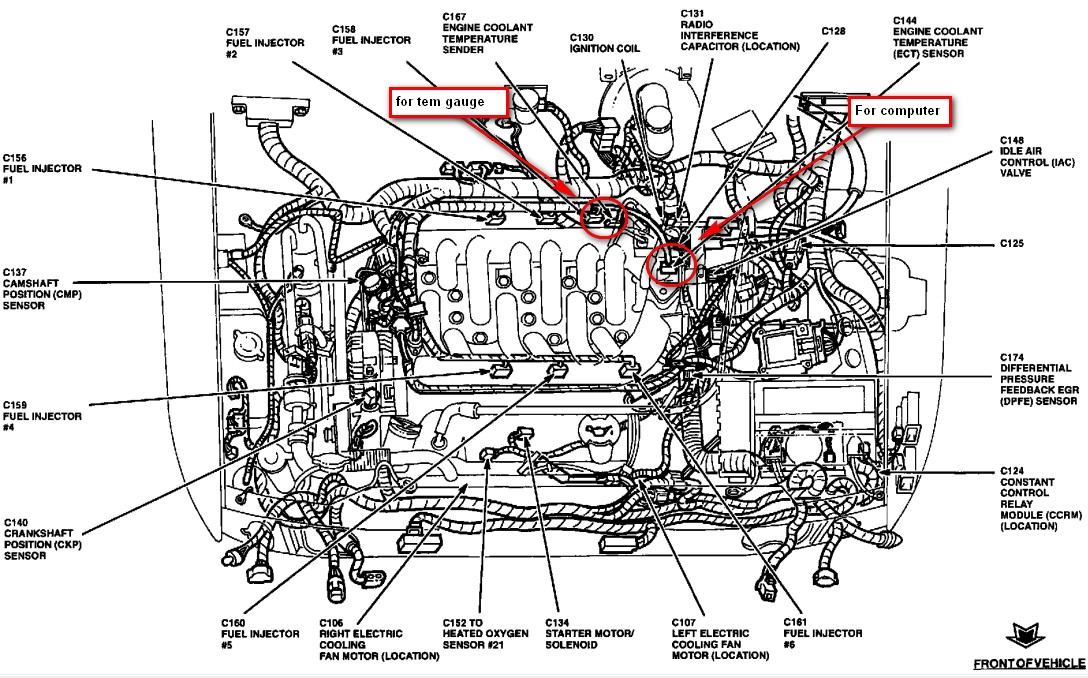 original 1996 ford windstar 3 8 i want to verify location of the coolant 89 ford mustang ect wiring diagram at bayanpartner.co