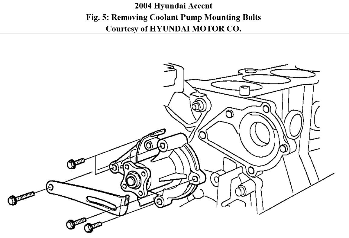 step by step engine removal 2004 hyundai accent