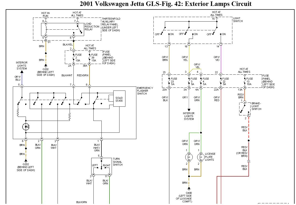 Having A Problem With The Tail Lights In Rear Driverside 23 2003 Volkswagen Jetta Instrument Cluster Fuse Box Diagram Thumb