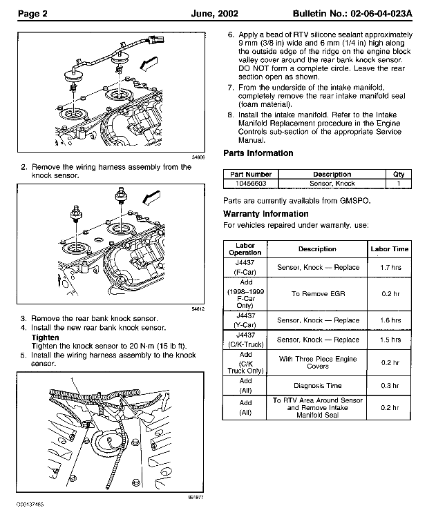 Gm Knock Sensor Wiring | Wiring Diagram on