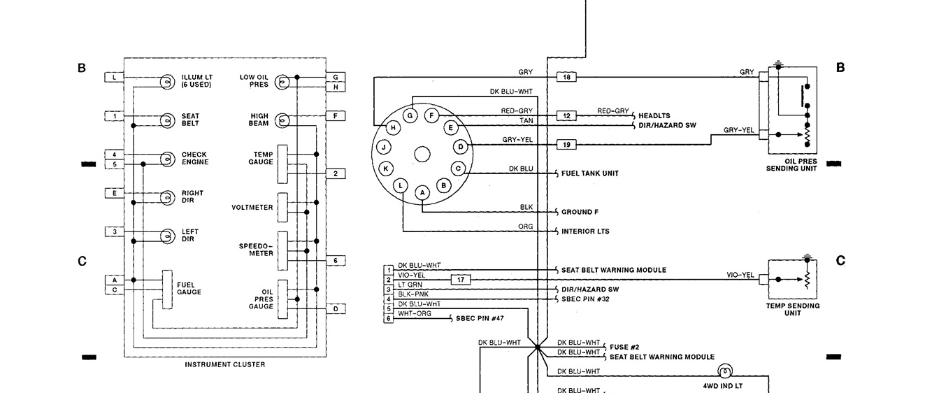original instrument cluster not working i have a 1992 dodge d250 pickup 1992 dodge d250 wiring diagram at n-0.co