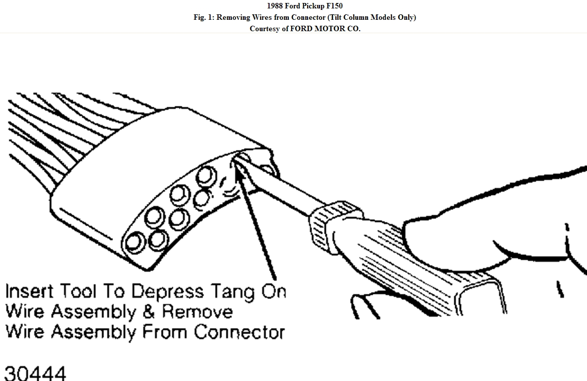 1992 ford f 150 steering column wiring diagram