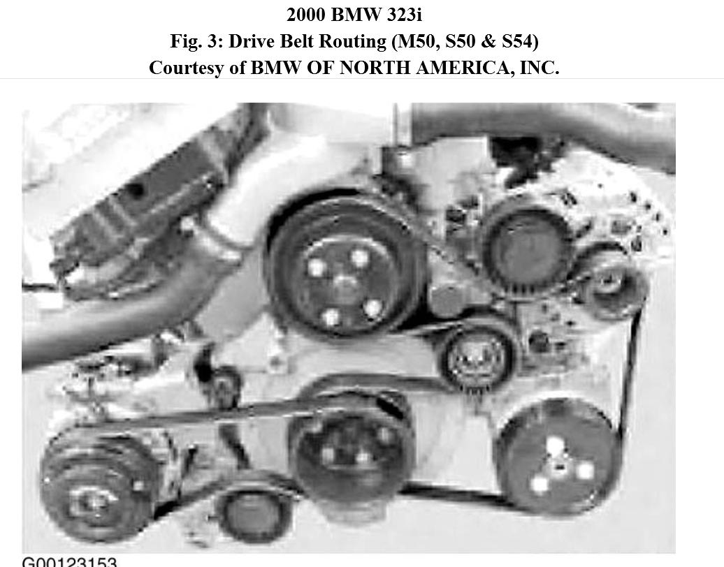 Original on Bmw Drive Belt Routing Diagram
