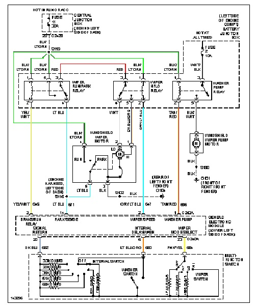 original 01 f350 wiper motor not responding i am working on a 01 1999 ford explorer rear wiper wiring diagram at creativeand.co