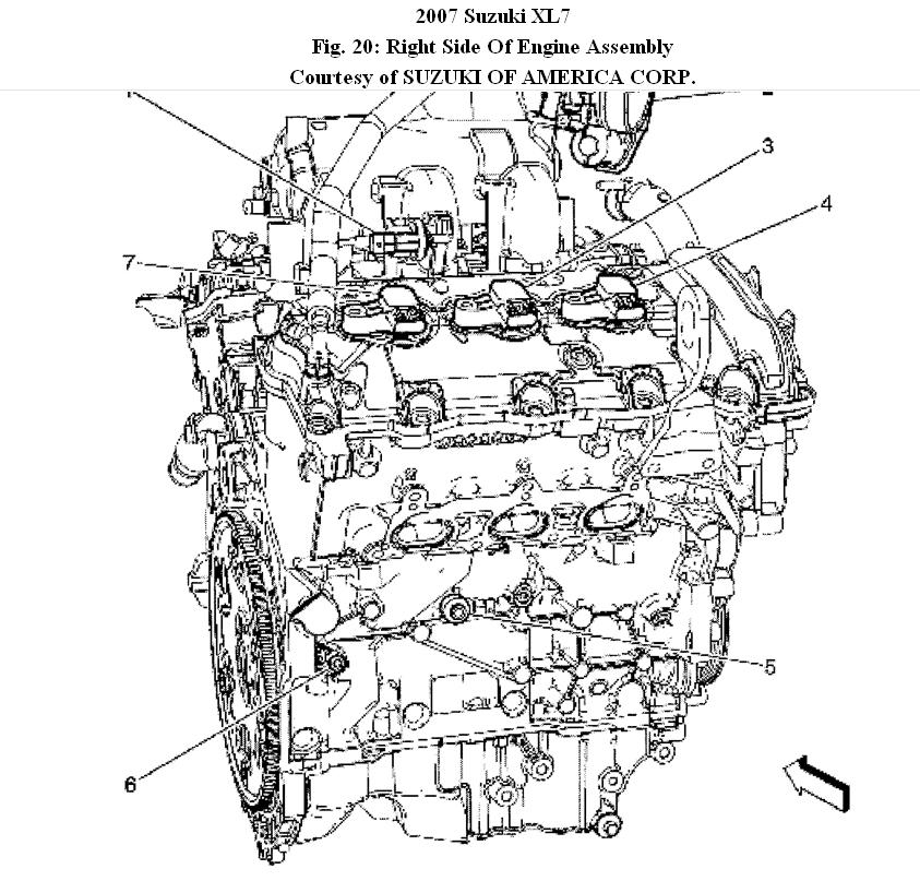 P0743 Dodge Where It Is Locate Tcc Solenoid further IGN timing together with 1999 Suzuki Grand Vitara Parts Diagram likewise 2007 Suzuki Reno Engine Diagram together with Carburador Motor 2e. on 2004 suzuki xl7 engine diagram
