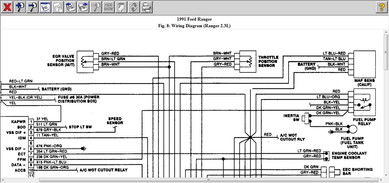 original iat sensor 1991 ford ranger 2 3l i have to know the eec pinout ' 1991 ford ranger ignition wiring diagram at bakdesigns.co