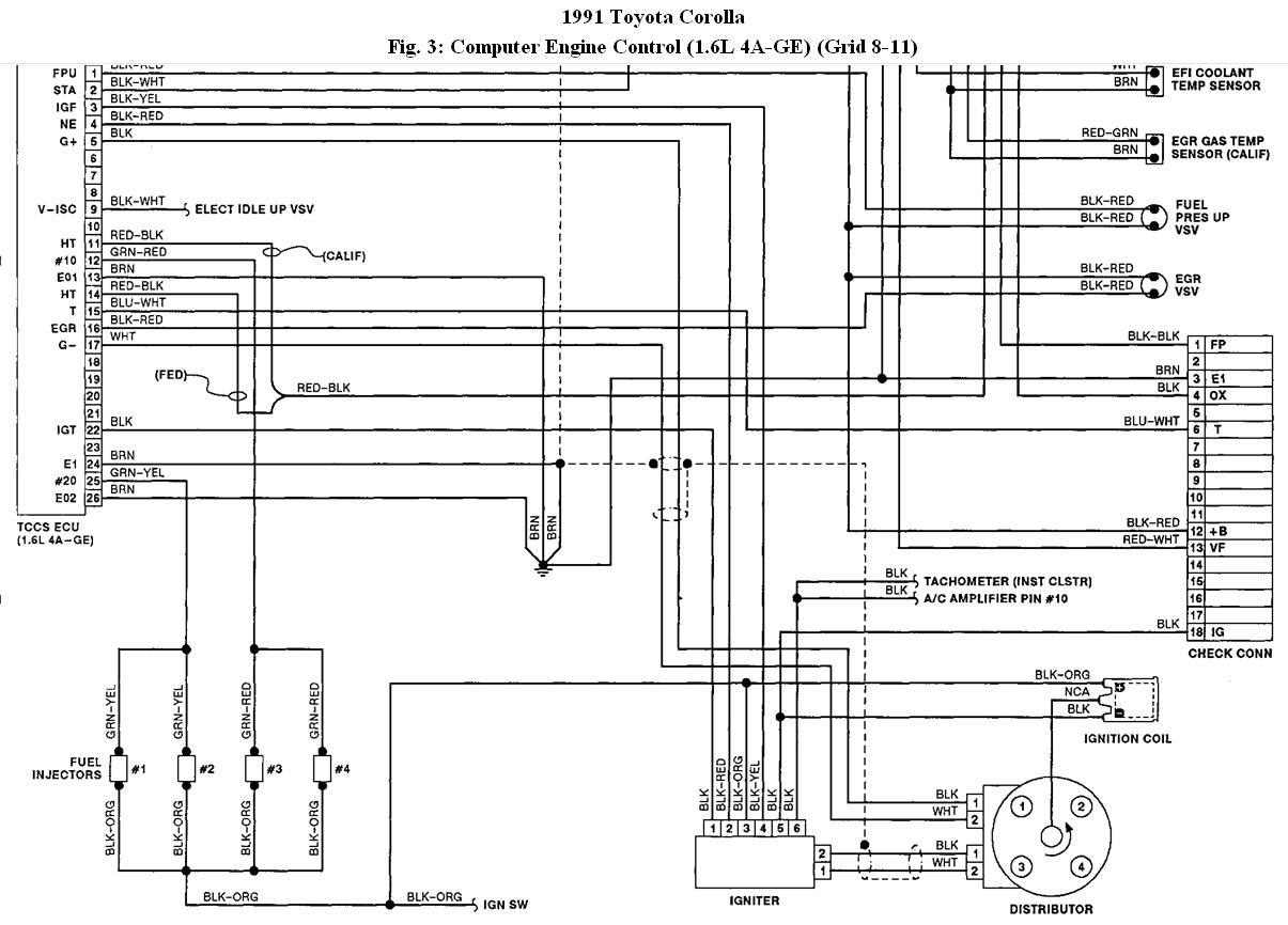Toyota 1g Fe Engine Diagram Circuit Wiring And Hub 1gr 1991 Corolla Distributor Auto 1990 F