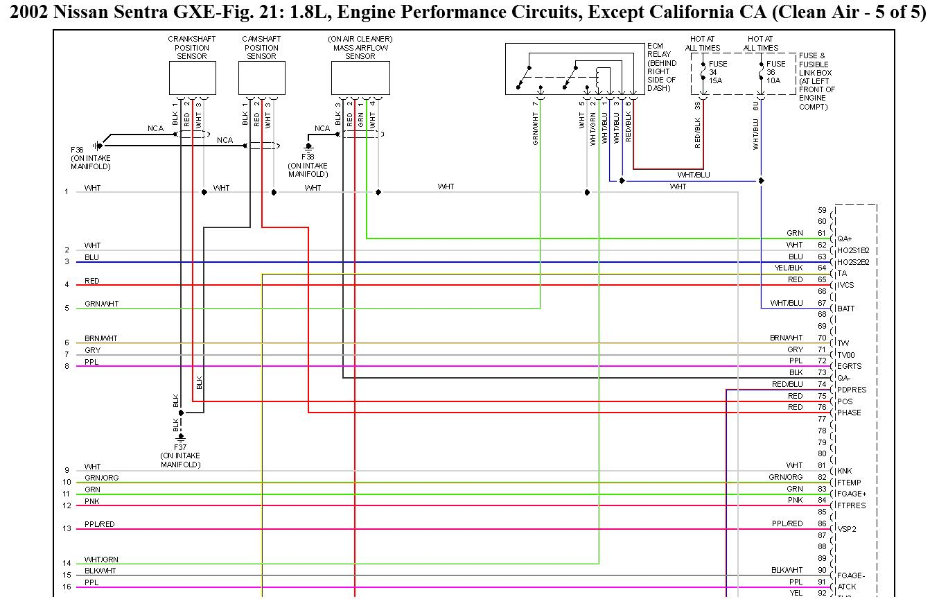 [SCHEMATICS_4UK]  CA8 2002 Nissan Sentra 1 8 Wiring Diagram | Wiring Library | 02 Sentra Engine Diagram |  | Wiring Library