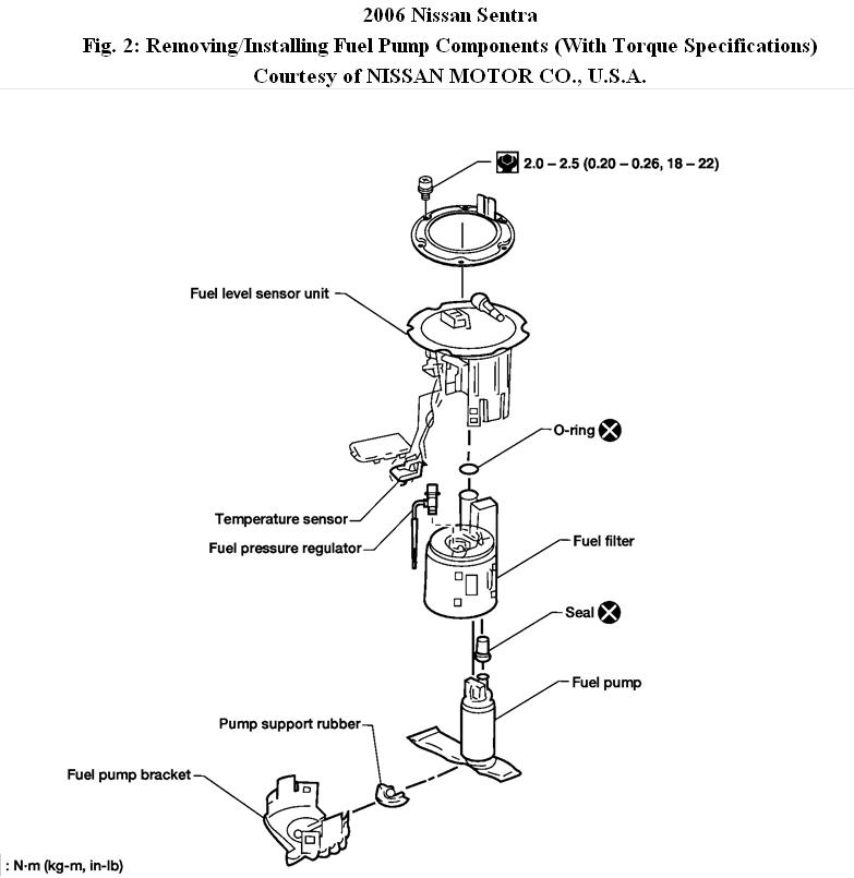 nissan fuel filter diagram