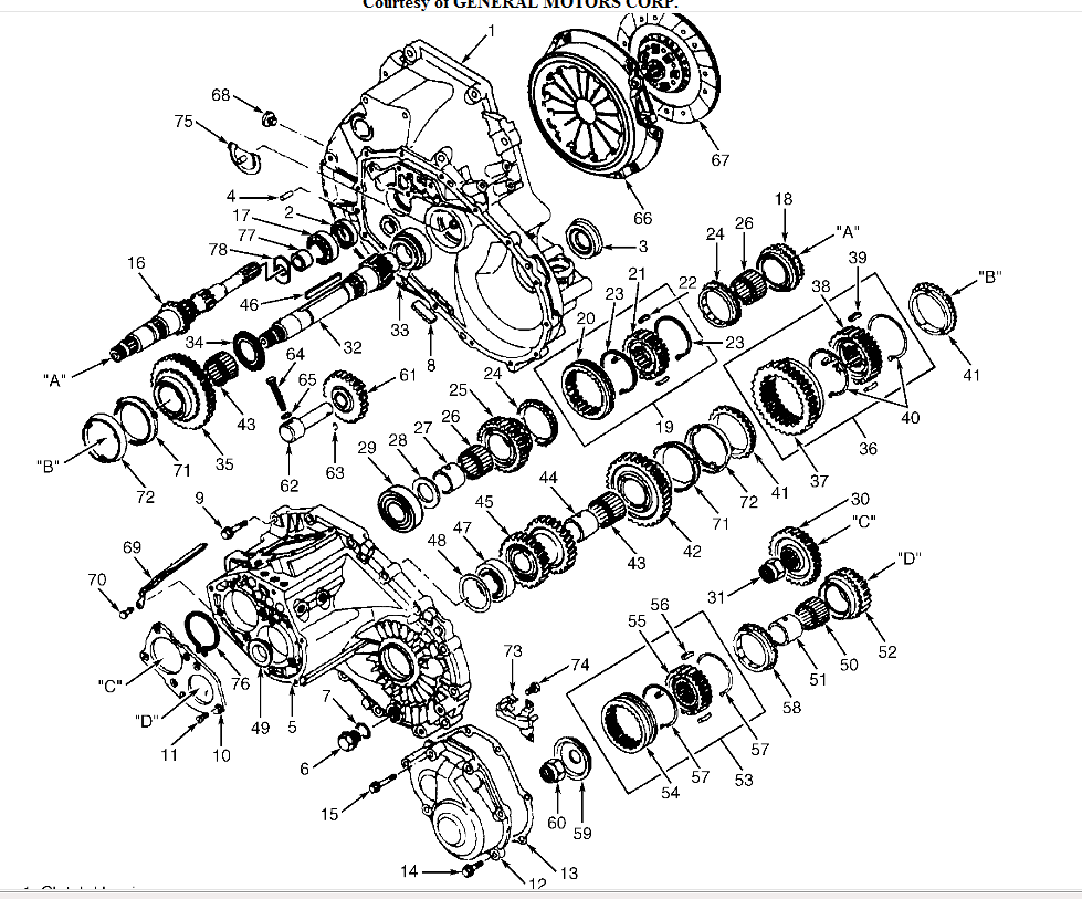 gm 1998 cavalier 5 sd transmission parts diagram  gm  auto
