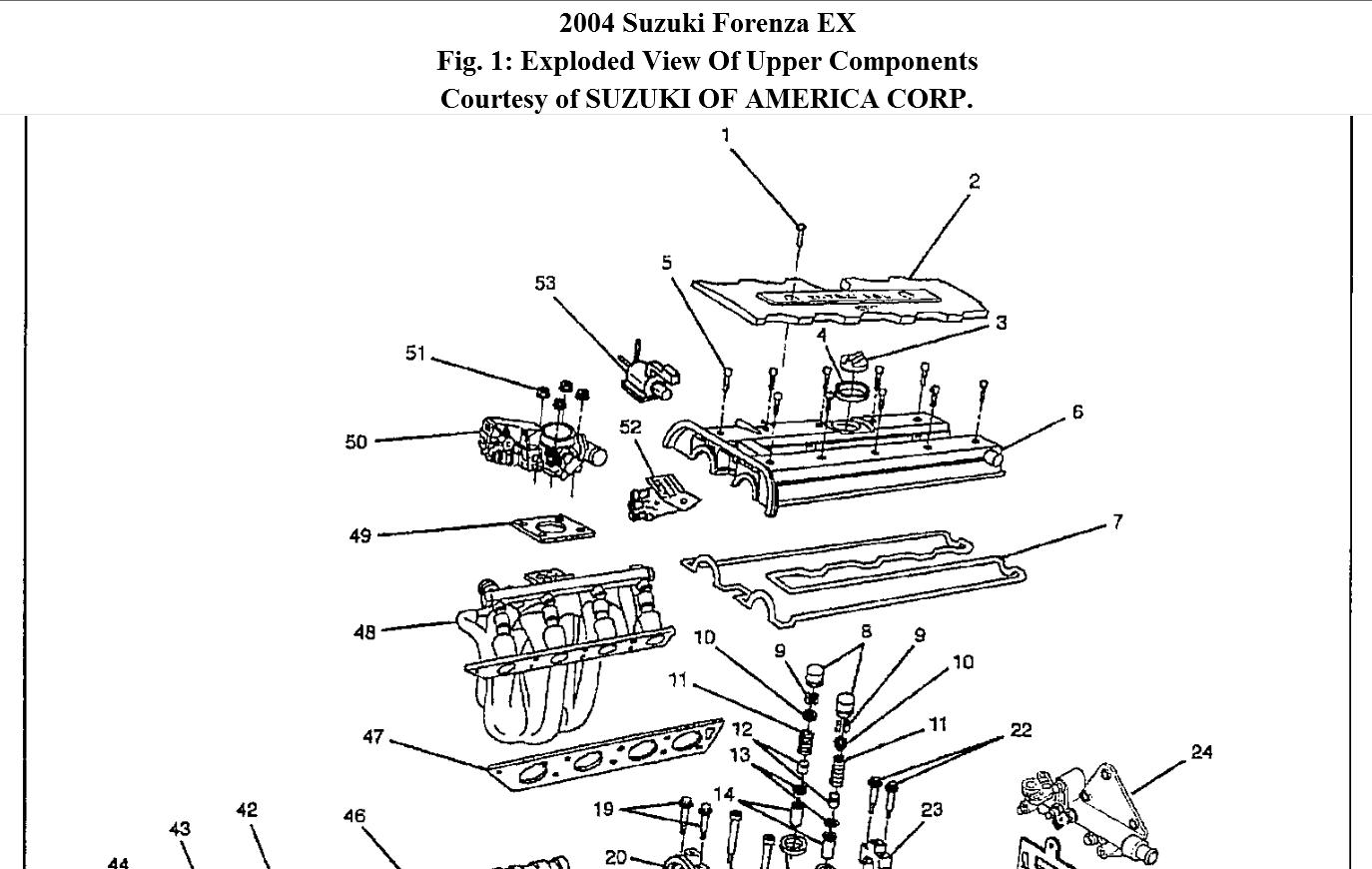 service manual  removing 2005 suzuki reno rear overhead