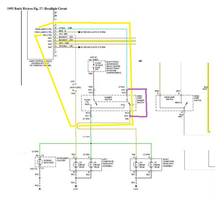 1995 buick riviera wiring schematic 1995 buick riviera wiring diagram flashers hello, i was wondering if i could get the wiring diagram ...