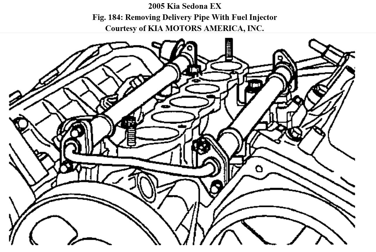 2004 Kia Sedona Engine Wiring Diagram Fuel Injector How Do I Remove The Electrical Connector On Thumb
